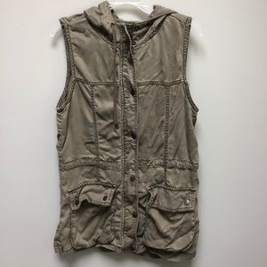 Kenneth Cole | Hooded Military Army Cargo Vest